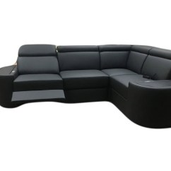 Corner Sofa Bed Recliner Samoa Contemporary Full Italian Leather Sectional Milan With Electric