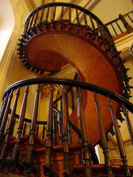 The Loretto Chapel Staircase Miracle   Loretto Chapel Staircase Wood   Free Standing   St Joseph   Nm Church Santa Fe   Light   Sister