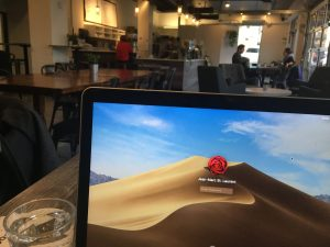 laptop at coffee shop linkedin lead generation