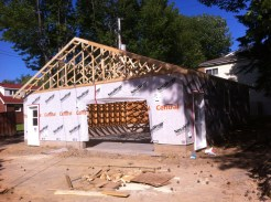 garage/shop during construction