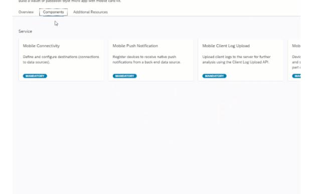 SAP Cloud Platform Recipes components