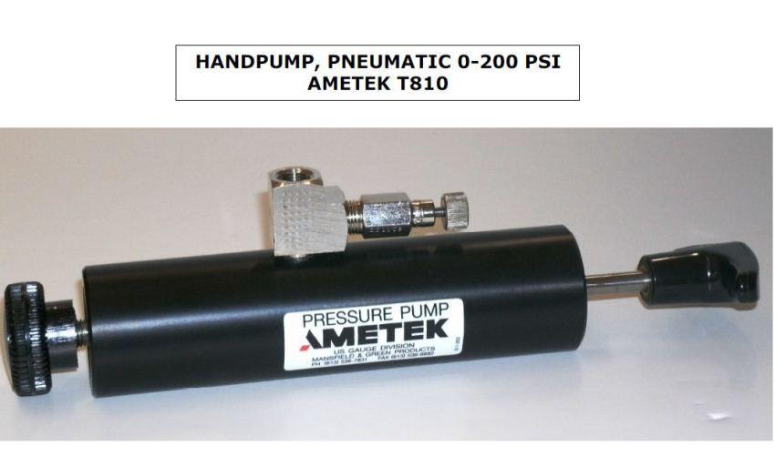 Ametek T-810 0-200psi Pneumatic Hand Pump • Sales. Rent. Calibration. & Repair at JM