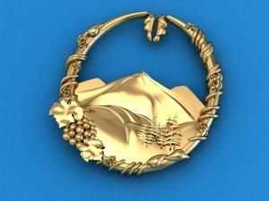 Yellow Gold Intricate Design Pin