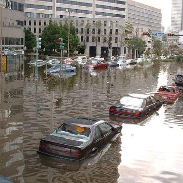 Nueva Orleans durante el huracán Katrina