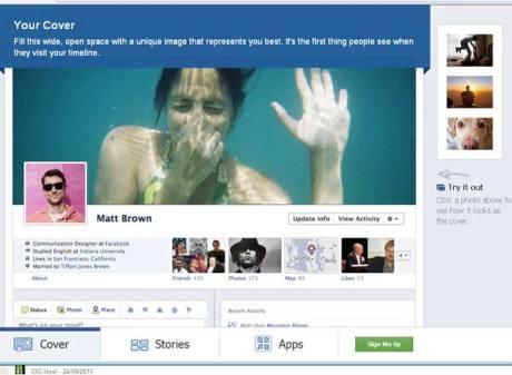 Facebook abre inscrições para novo perfil