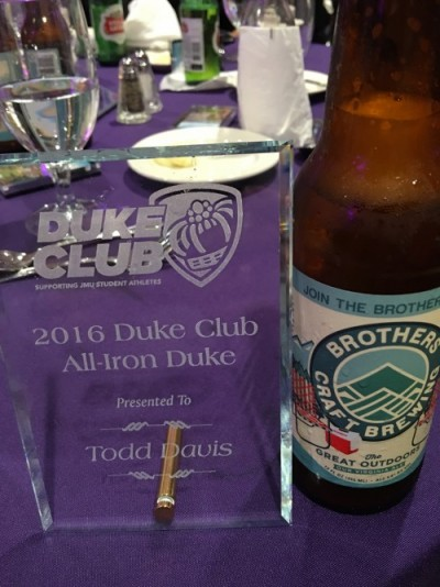 Seriously, an actual award (and local brews of course)