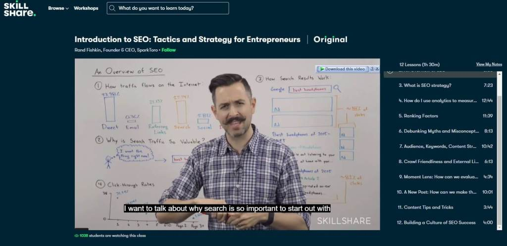 Skillshare knowledge sell and income