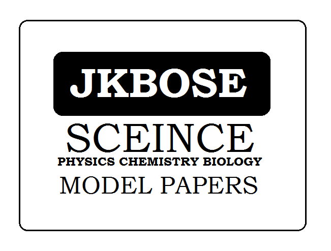 JKBOSE 10th Science Model Paper 2020