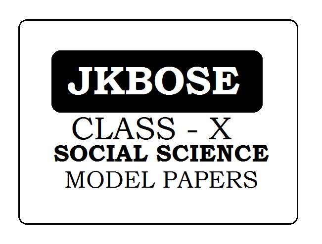 JKBOSE 10th Social Science (EVS) Model Paper 2021