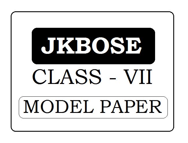 JKBOSE 7th Class Model Paper 2021