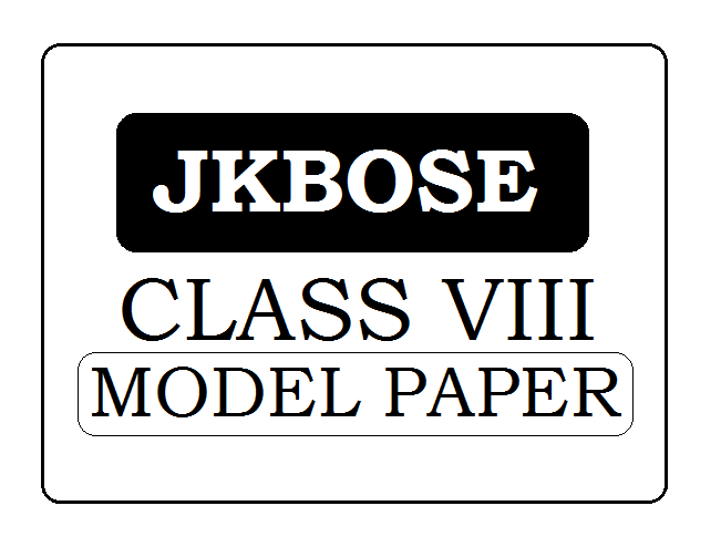 JKBOSE 8th Class model paper 2020