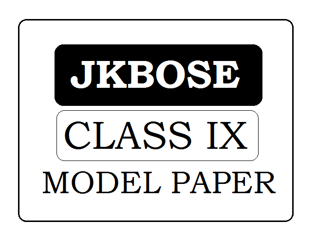 JKBOSE 9th Class Model Paper 2021