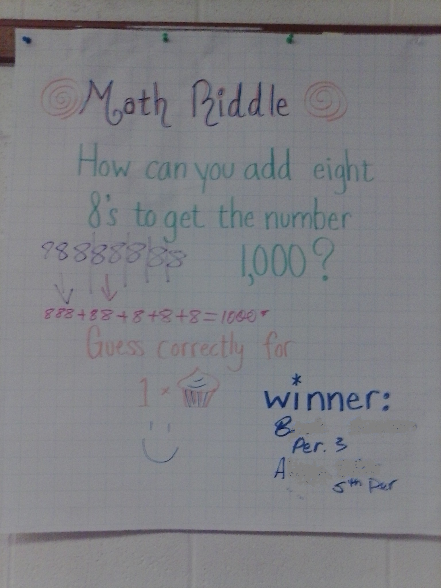 Math Riddles Collaboration Within The School