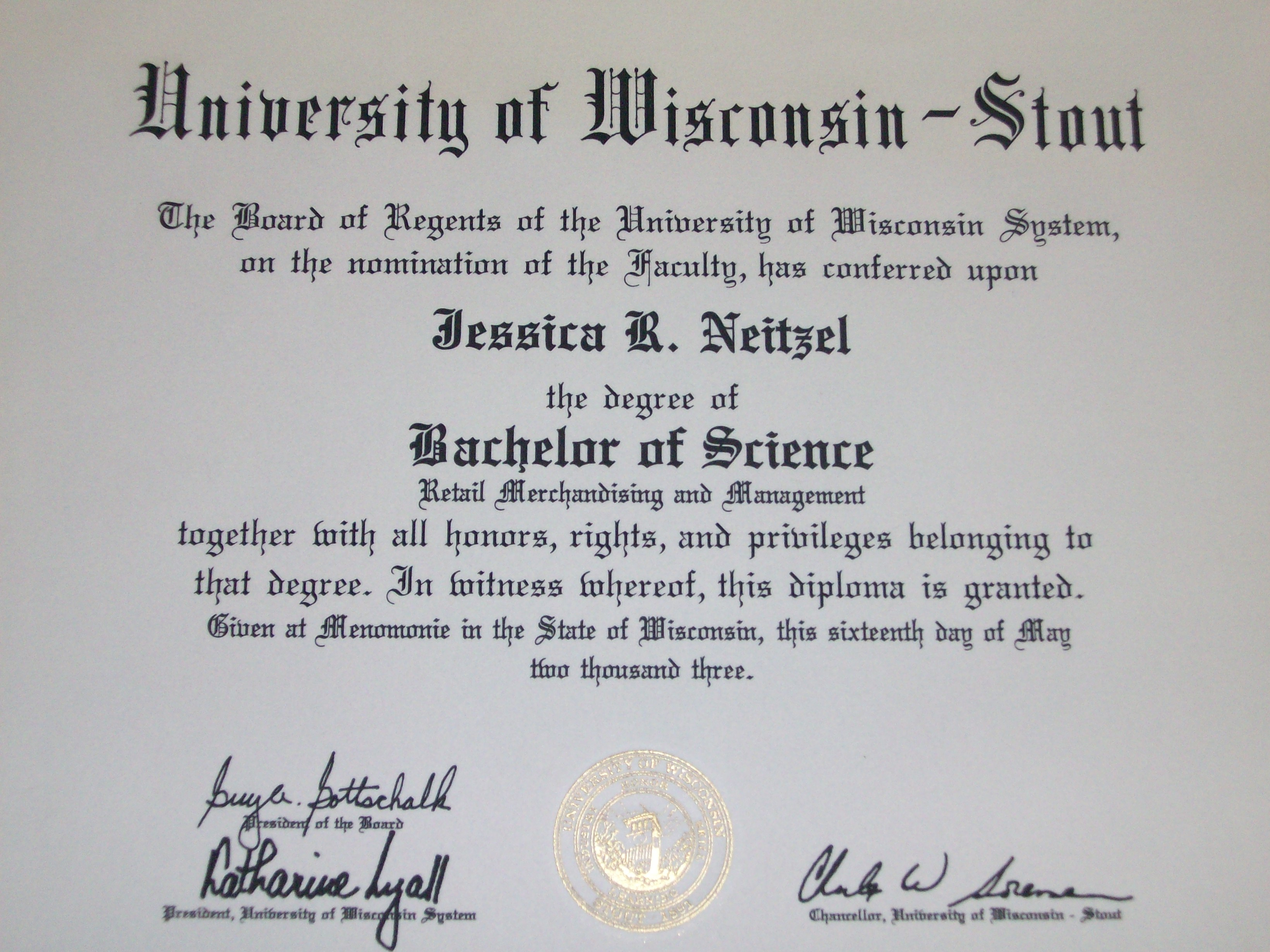 Bachelors Degree Diploma  Jneitzel1s Blog