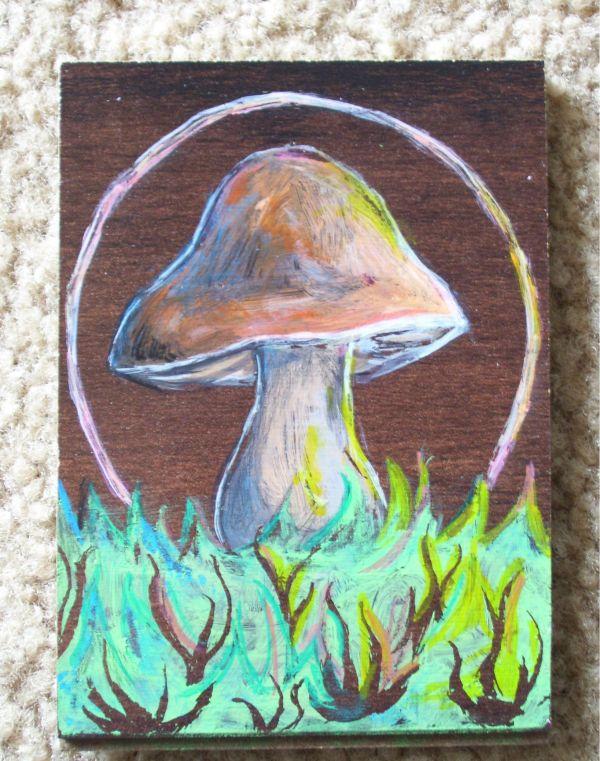 Mushroom Watercolor Painting