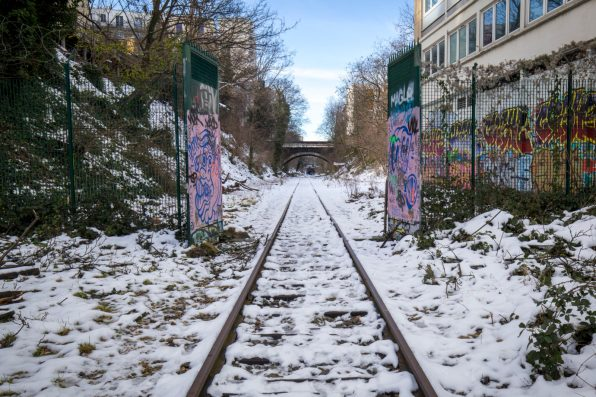 La Petite Ceinture sous la neige (non loin de la Porte de Vanves)