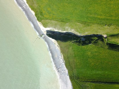 Normandie Mavic Pro - faille dans la falaise