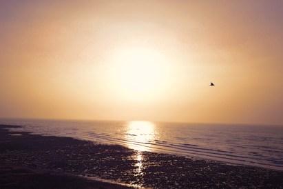 Normandie Mavic Pro - coucher de soleil