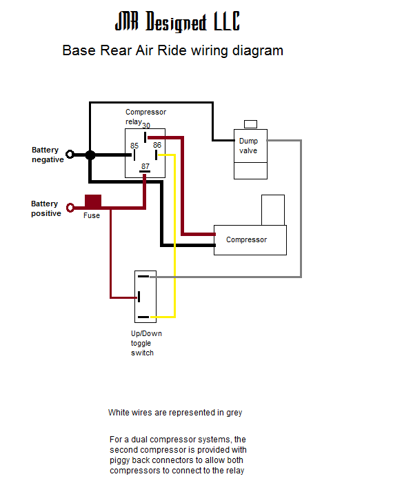 air suspension wiring diagram ride installation kenwood kdc mp242 2 base rear harley touring model non year specific - jnr designed