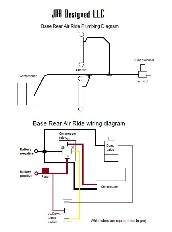 air ride compressor relay wiring diagram  dodge 7 pin