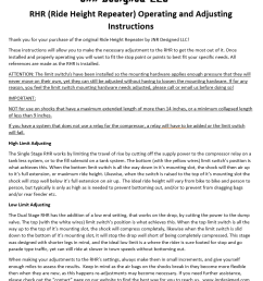jnr designed ride height repeater installation instructions [ 832 x 1006 Pixel ]