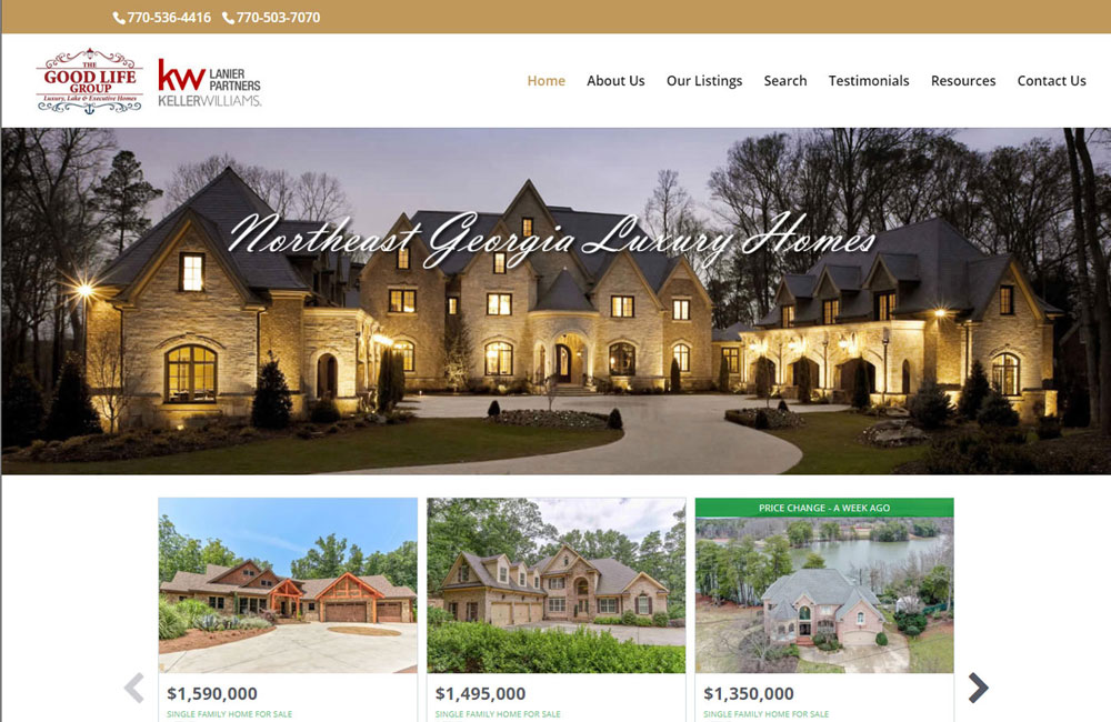 Website Design - Northeast GA Luxury Homes
