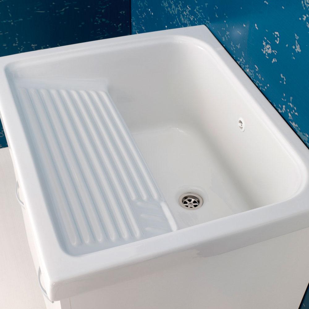 Vasca Lavatoio In Ceramica.Vasca Lavatoio Mobile Lavatoio Prix Bianco L 59 2 X P 50 5 X H 84 Cm