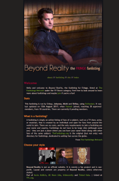 Beyond Reality   Fanlisting for the TV show Fringe