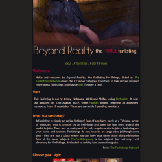 Beyond Reality | Fanlisting for the TV show Fringe