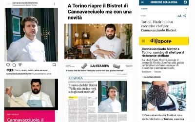 Parlano di noi: Emin Haziri diventa Chef del Cannavacciuolo Bistrot