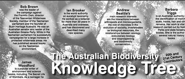 Teh Australian Biodiversity Knowledge Tree, Bob Brown