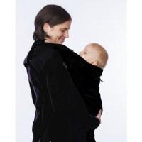 Magyarinda hordozós pulóver Fekete