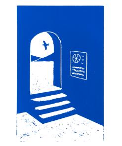 joachim_sontag_sérigraphie_dessin_arche_bleue