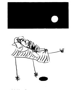 joachim_sontag_sérigraphie_dessin_un_chien_qui_joue_avec_la_lune