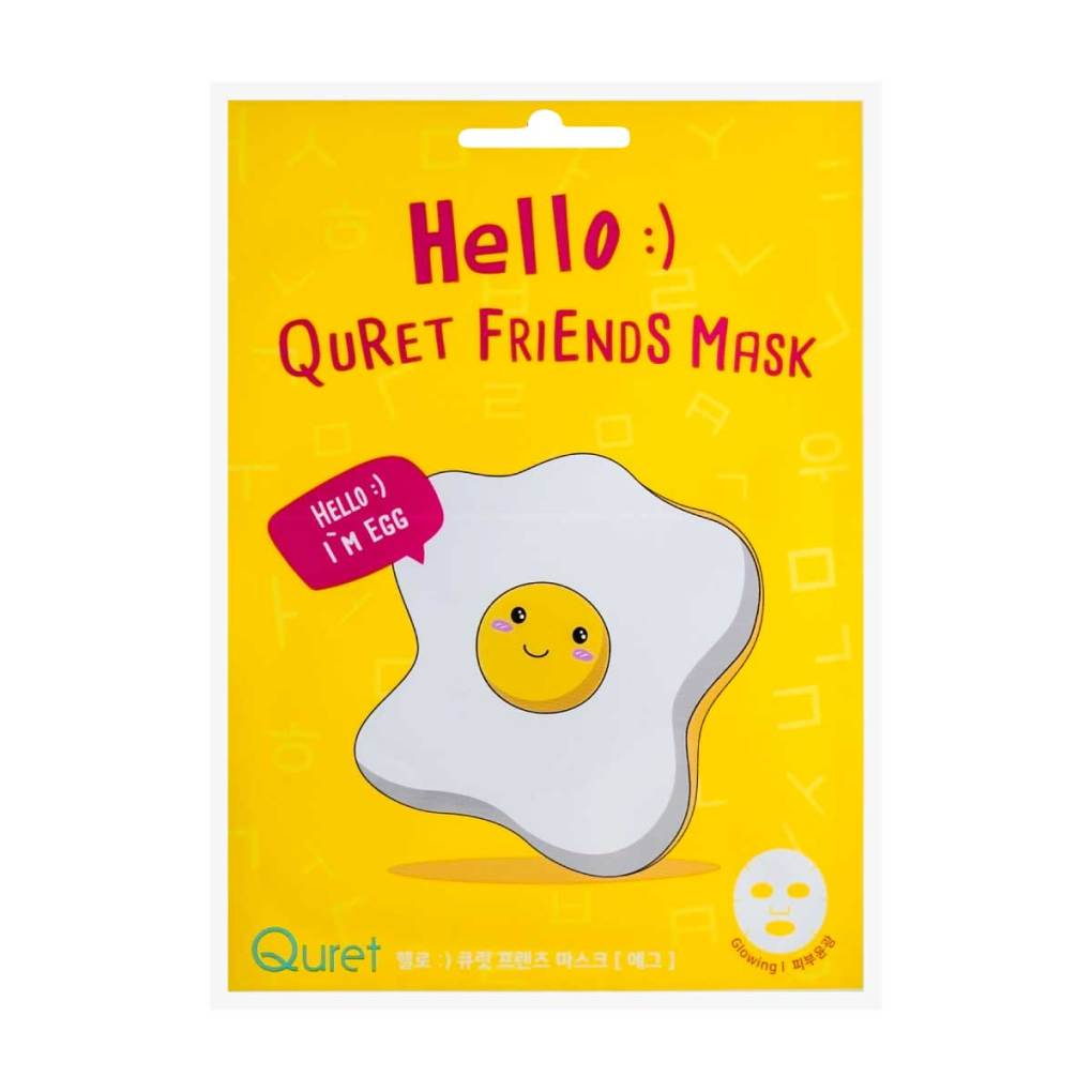 Hello :) Quret Friends Egg Mask