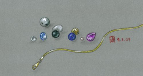 Jewelry findings rendering by Joana Miranda