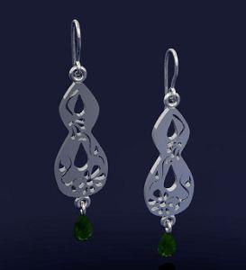 Exotic Keyhole Dangle Earrings by Joana Miranda