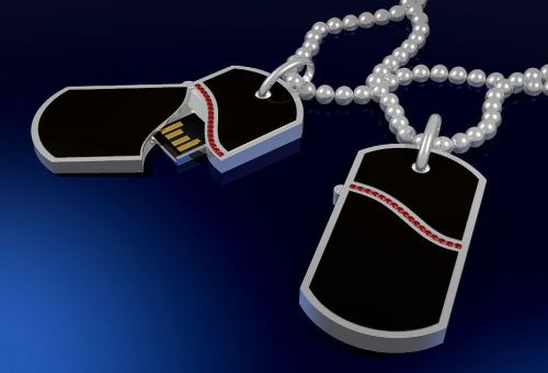 Dog Tags with Hidden Pico Drive Design Takes 2nd Place in 2009 George A. Schuetz Design Contest