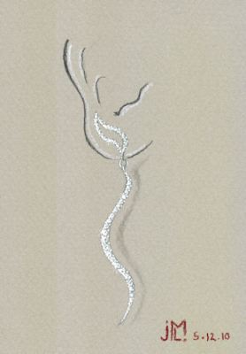 Watercolor and gouache diamond S-shaped earring design (Variation 5) by Joana Miranda