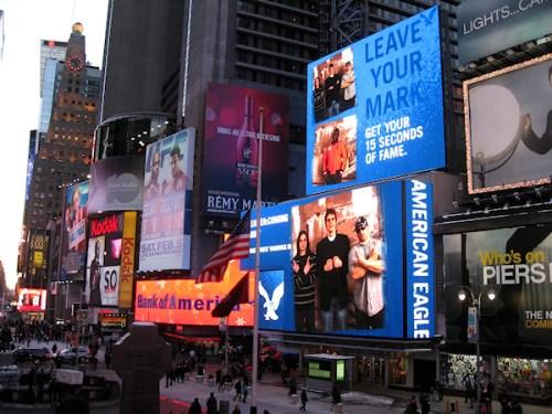 Times Square cityscape photo taken by Joana Miranda