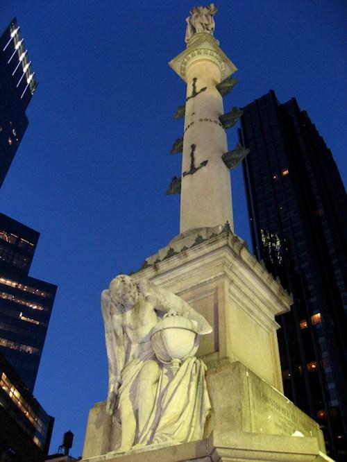 Photo of the Christopher Columbus Statue at Columbus Circle, NY taken by Joana Miranda