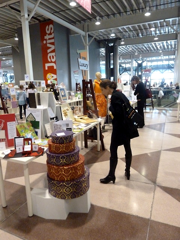 Joana views the merchandise at the National Stationery Show