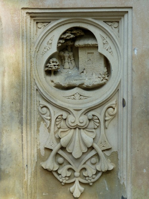Photo of stone keyhole house at Bethesda Fountain, taken by Joana Miranda