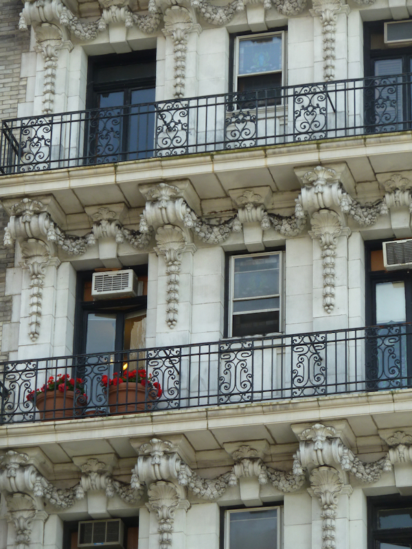 Photo of doors and windows on ornate Upper West Side apartment building, taken by Joana Miranda