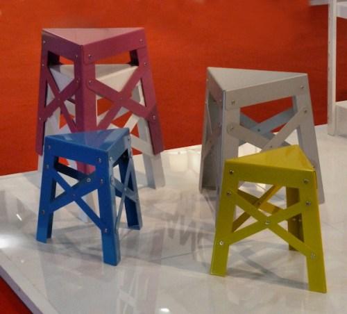 Photo of triangular stools, taken by Joana Miranda