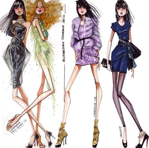 4 Whimsical Girls - Illustration by Alfredo Cabrera