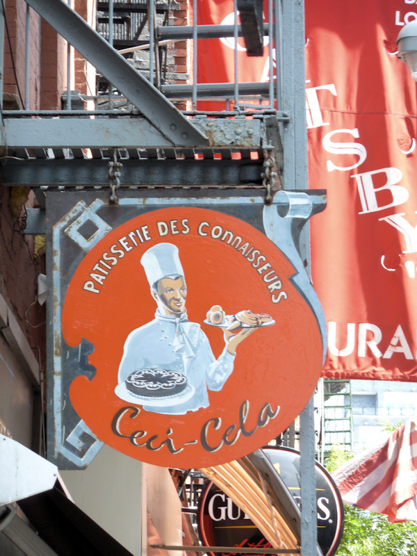 Photo of vintage style bakery sign - Retro Chef Art in New York City