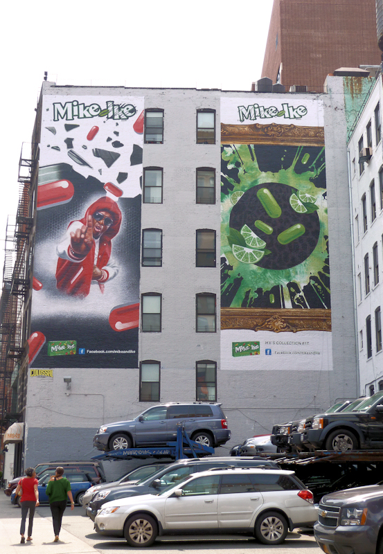Photo of pop art advertising in Lower Manhattan