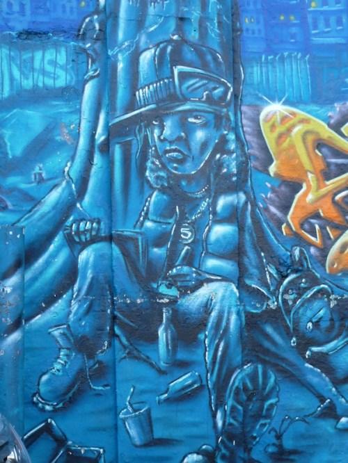 feeling blue graffiti
