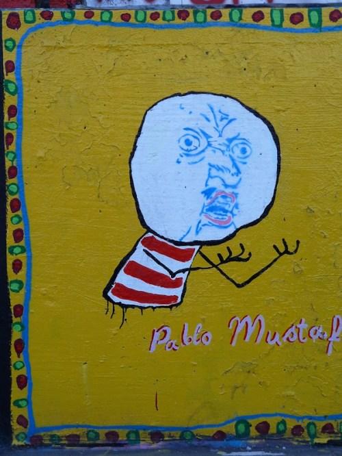 Pablo Mustaf graffiti